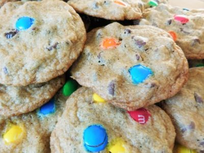 Chocolate Chip Cookies with M&Ms