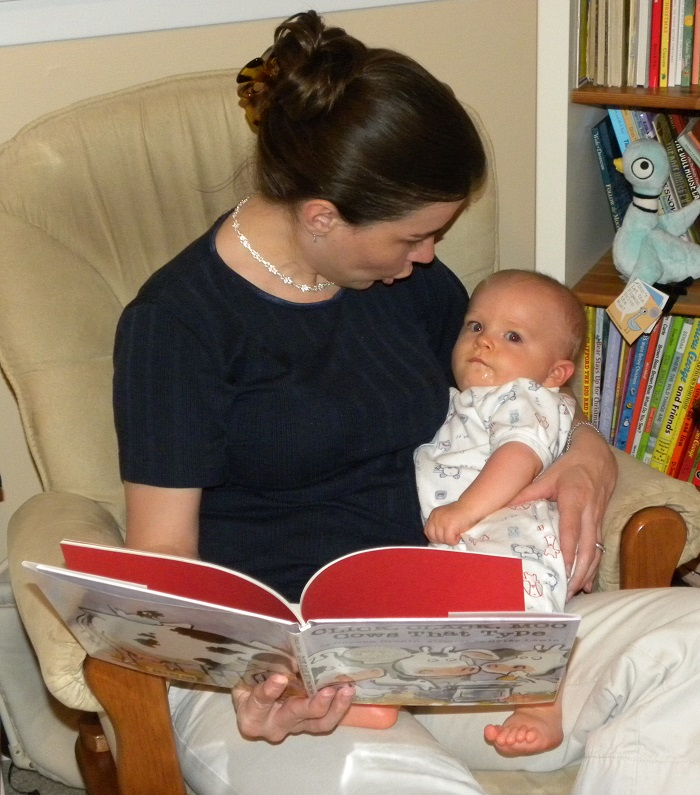 Reading to my baby