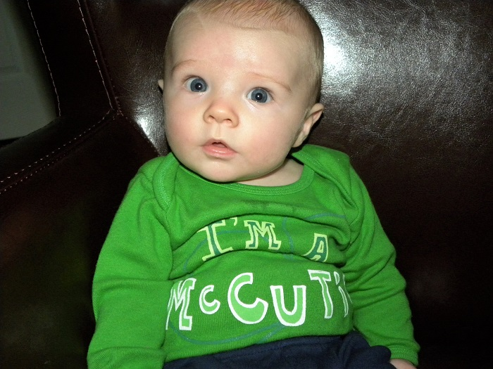 "My favorite St. Patrick's Day memory will always be the boys in their ""I'm a McCutie"" onsie."